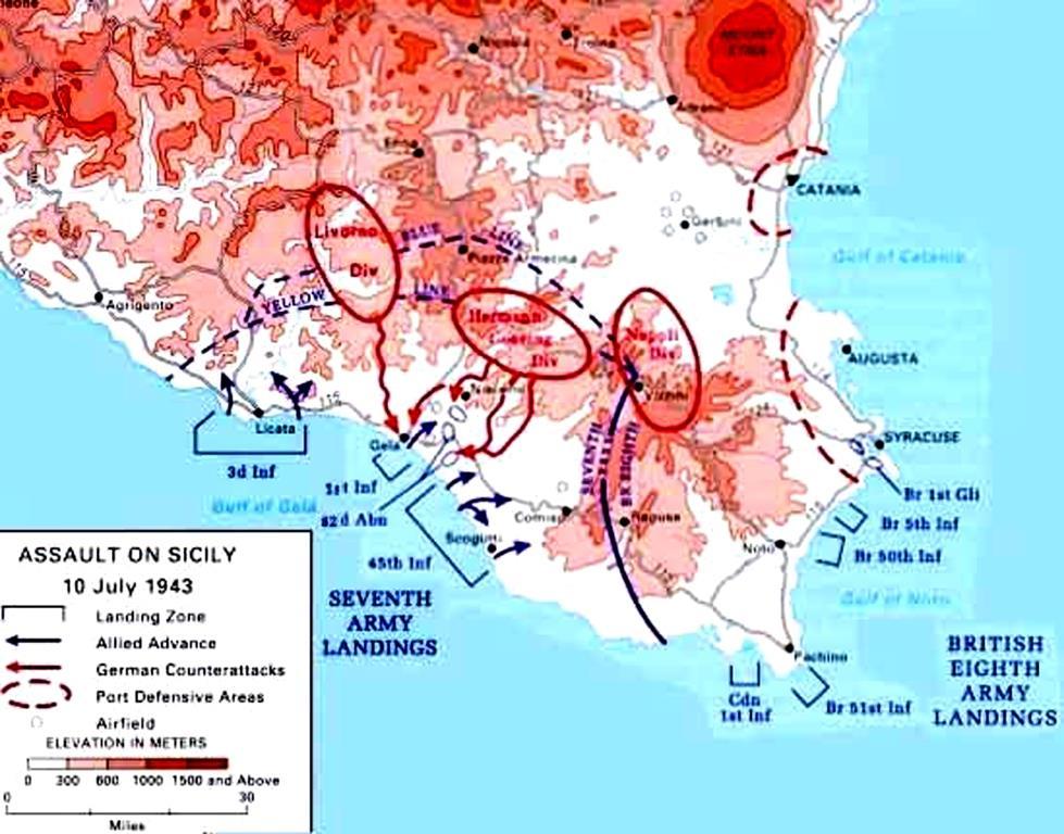 débarquement en Sicile